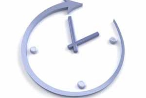 Abstract clock on a white background