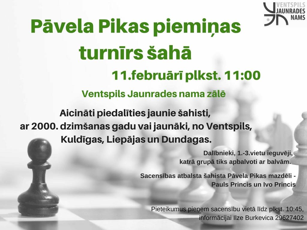 Pāvela Pikas piemiņas turnīrs šahā (1)